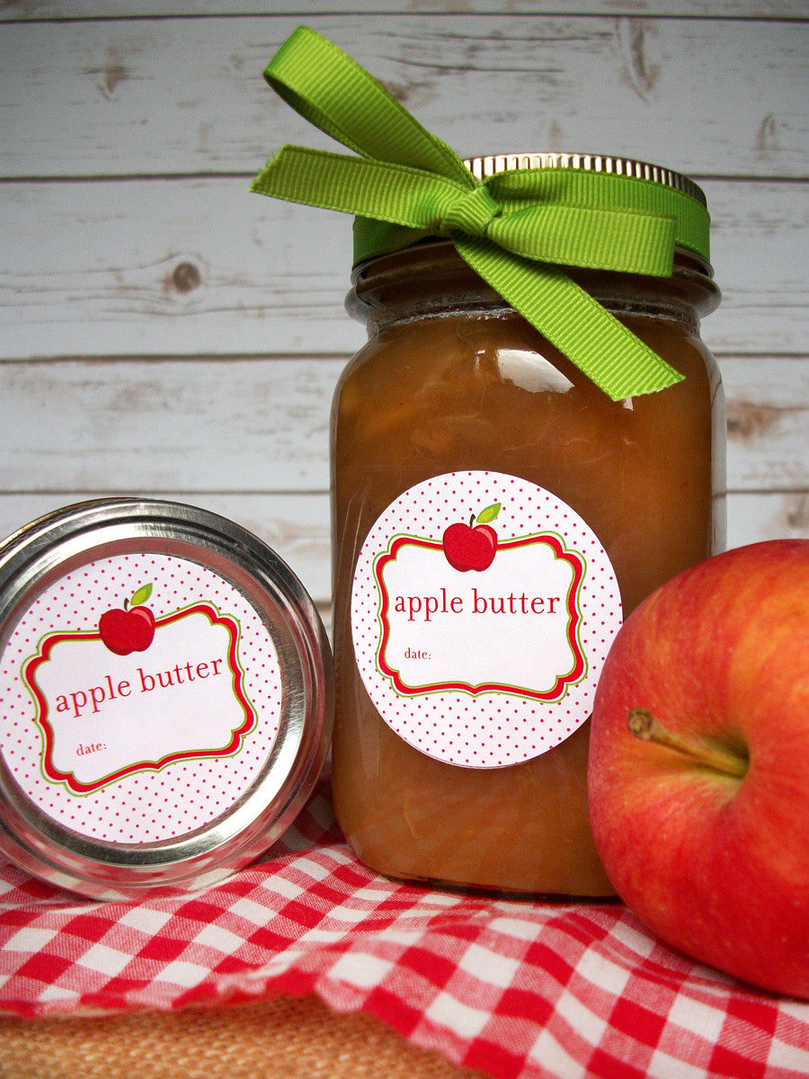 Apple Butter Mason Jar Labels | CanningCrafts.com