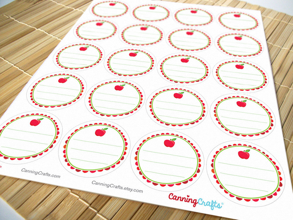 Apple Canning Jar Labels | CanningCrafts.com