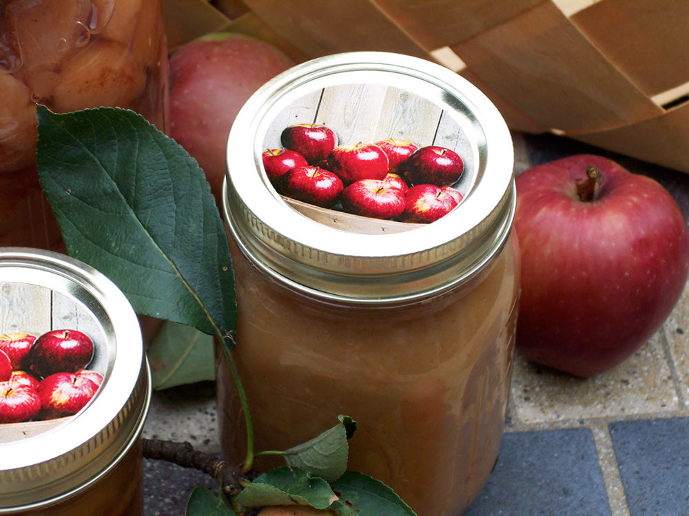 Market Fresh Apple Canning Jar Labels | CanningCrafts.com