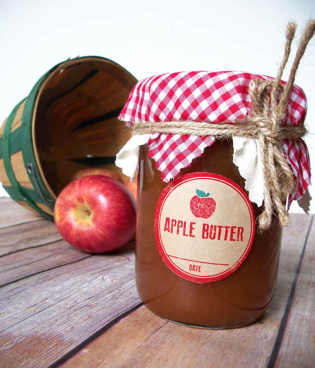 Rubber Stamp Apple Butter Canning Labels | CanningCrafts.com