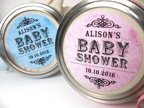 custom baby shower label | CanningCrafts.com