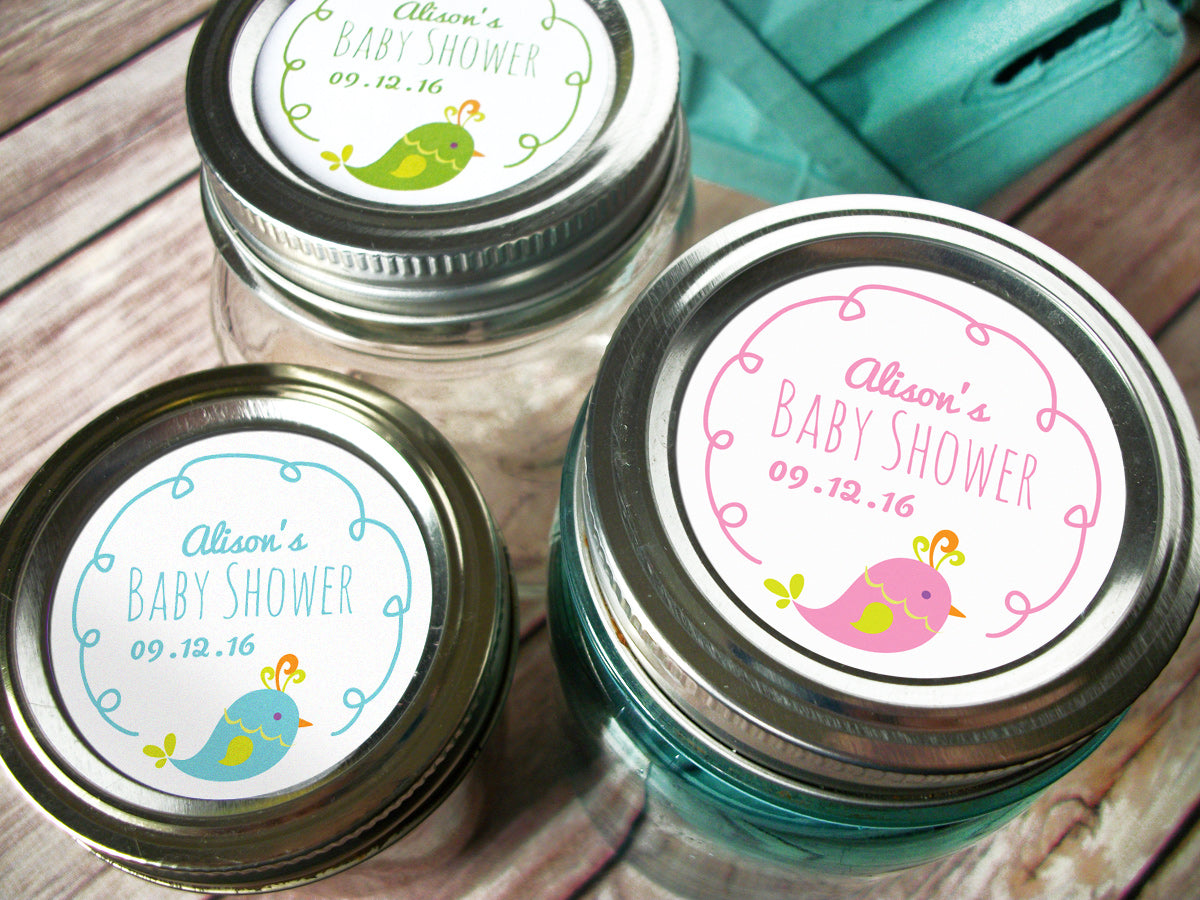 Custom baby girl & boy shower labels  | CanningCrafts.com