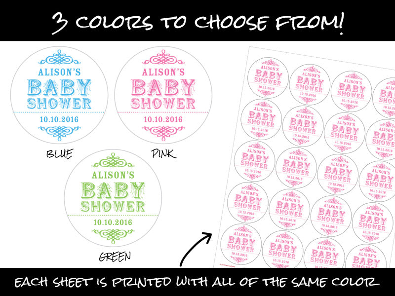 Custom vintage baby shower labels | CanningCrafts.com