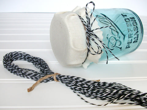 black & white baker's twine | CanningCrafts.com