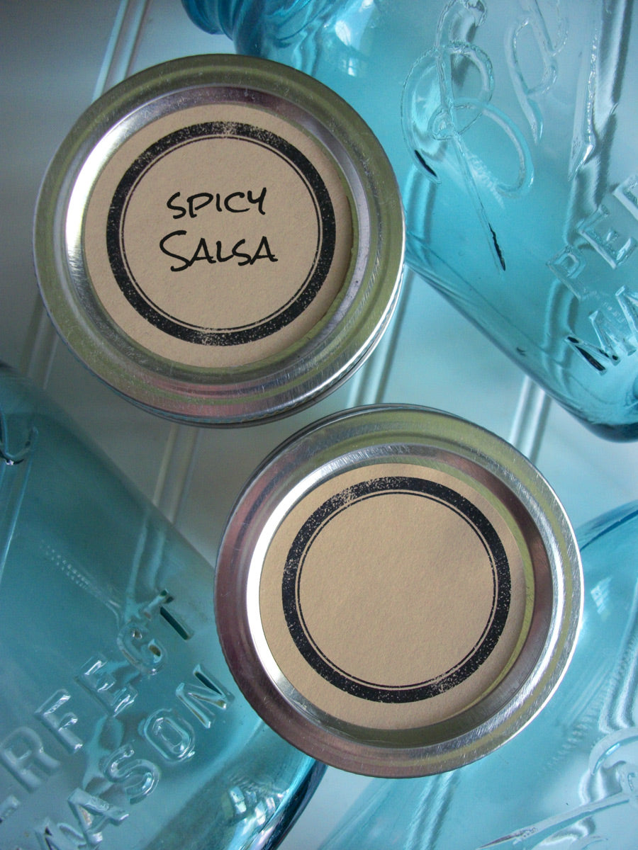 Rustic Black Ring Kraft Canning Labels | CanningCrafts.com