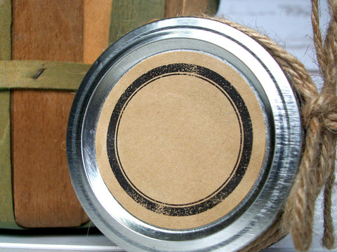 Rustic Kraft Canning Labels | CanningCrafts.com
