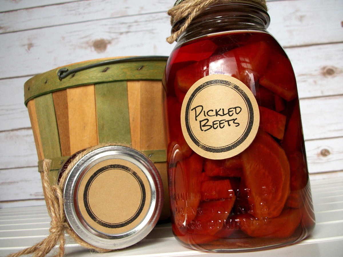 Rubber Stamp Kraft Canning Jar Labels | CanningCrafts.com