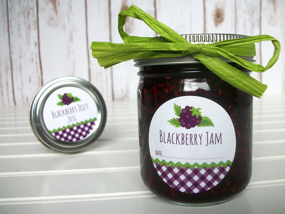 Blackberry Jam Canning Labels | CanningCrafts.com