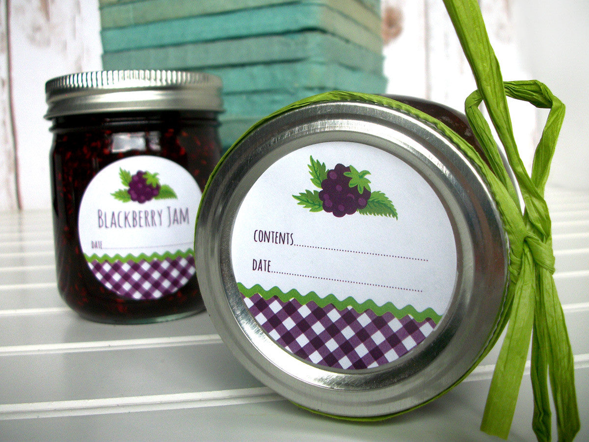 Blackberry Jam Canning Jar Label | CanningCrafts.com