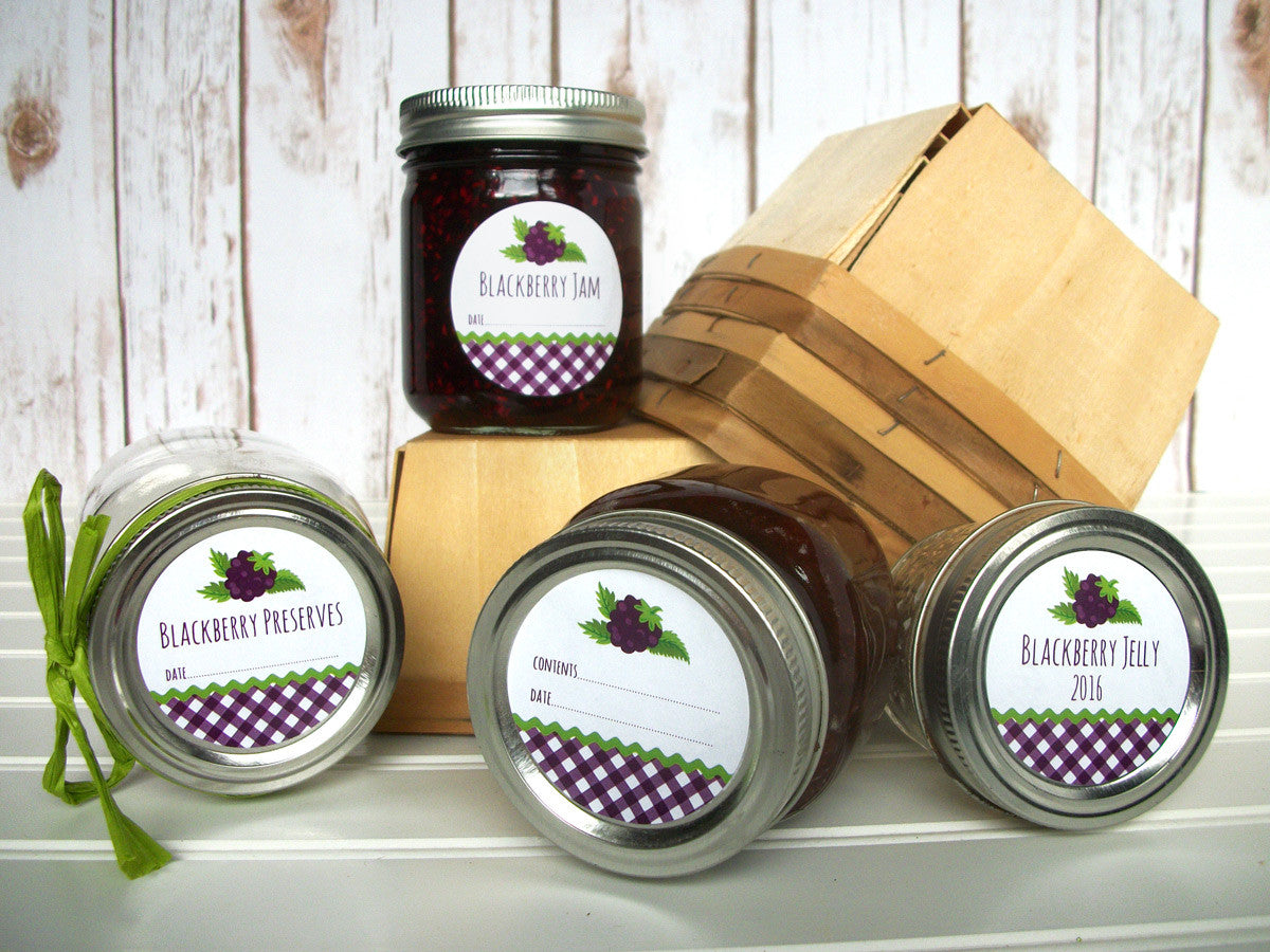 Blackberry Preserves Canning Jar Labels | CanningCrafts.com