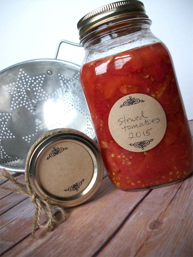 blank vintage kraft canning jar labels | CanningCrafts.com