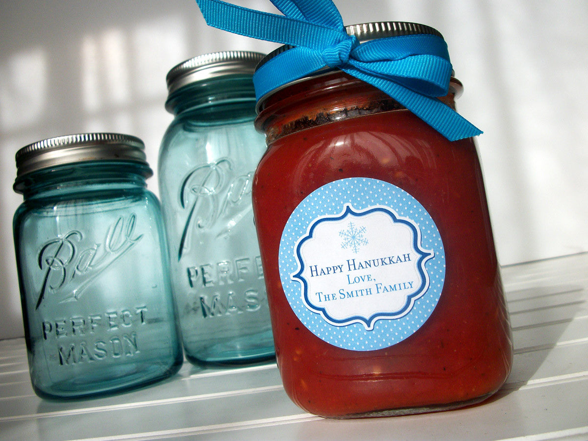 Hanukkah Canning Jar Labels
