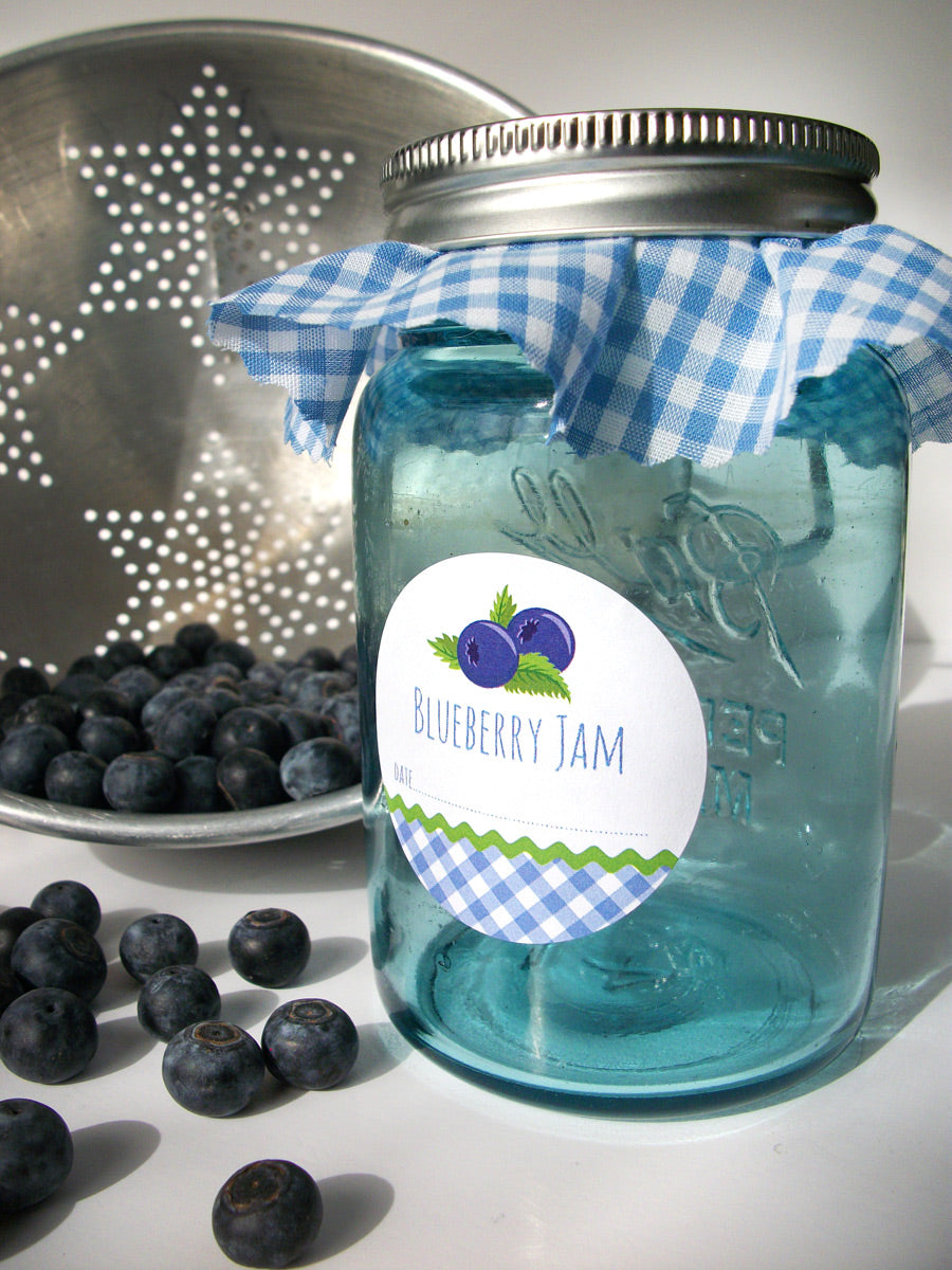 Blueberry Jam Canning Jar Label | CanningCrafts.com