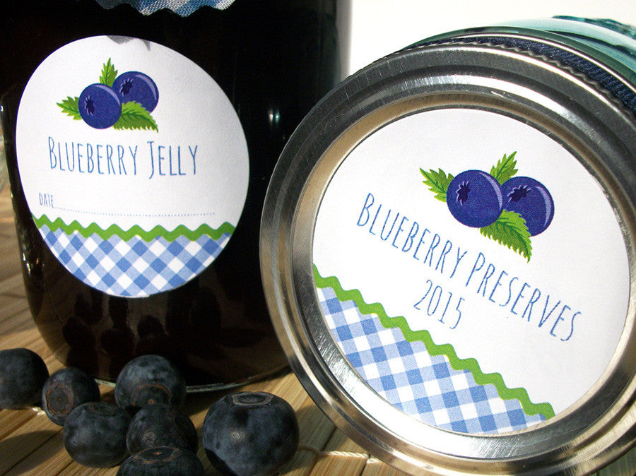 Blueberry Jelly & Preserves Canning Labels | CanningCrafts.com