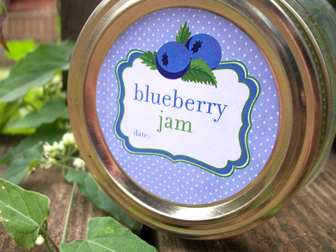 Cute Blueberry Jam Canning Labels | CanningCrafts.com