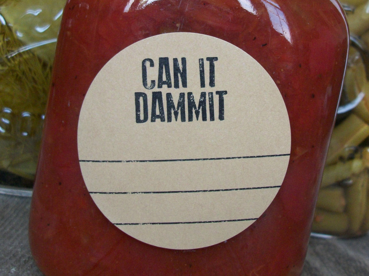 Kraft Can it Dammit Canning Labels | CanningCrafts.com