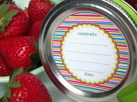 Candy Stripes Canning Labels
