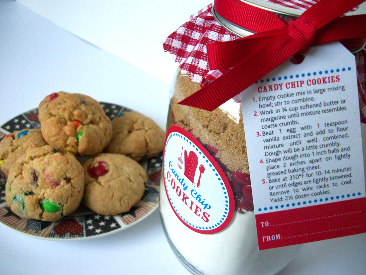 Candy Chip Cookie Mason Jar Kit | CanningCrafts.com