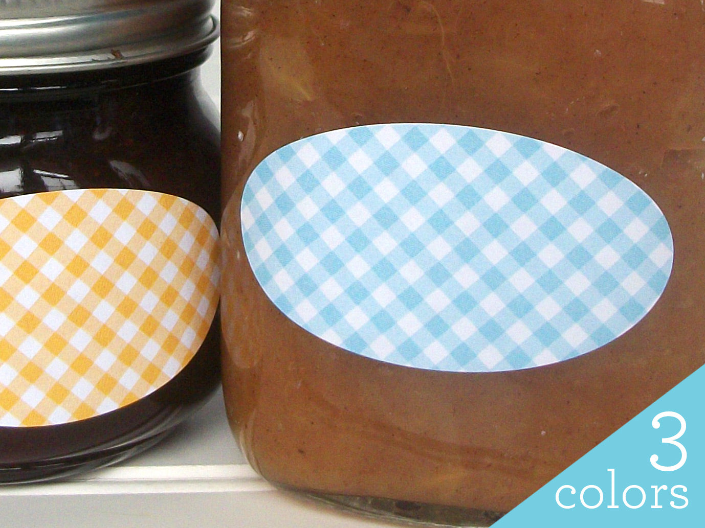 Checkered Oval Canning Labels | CanningCrafts.com