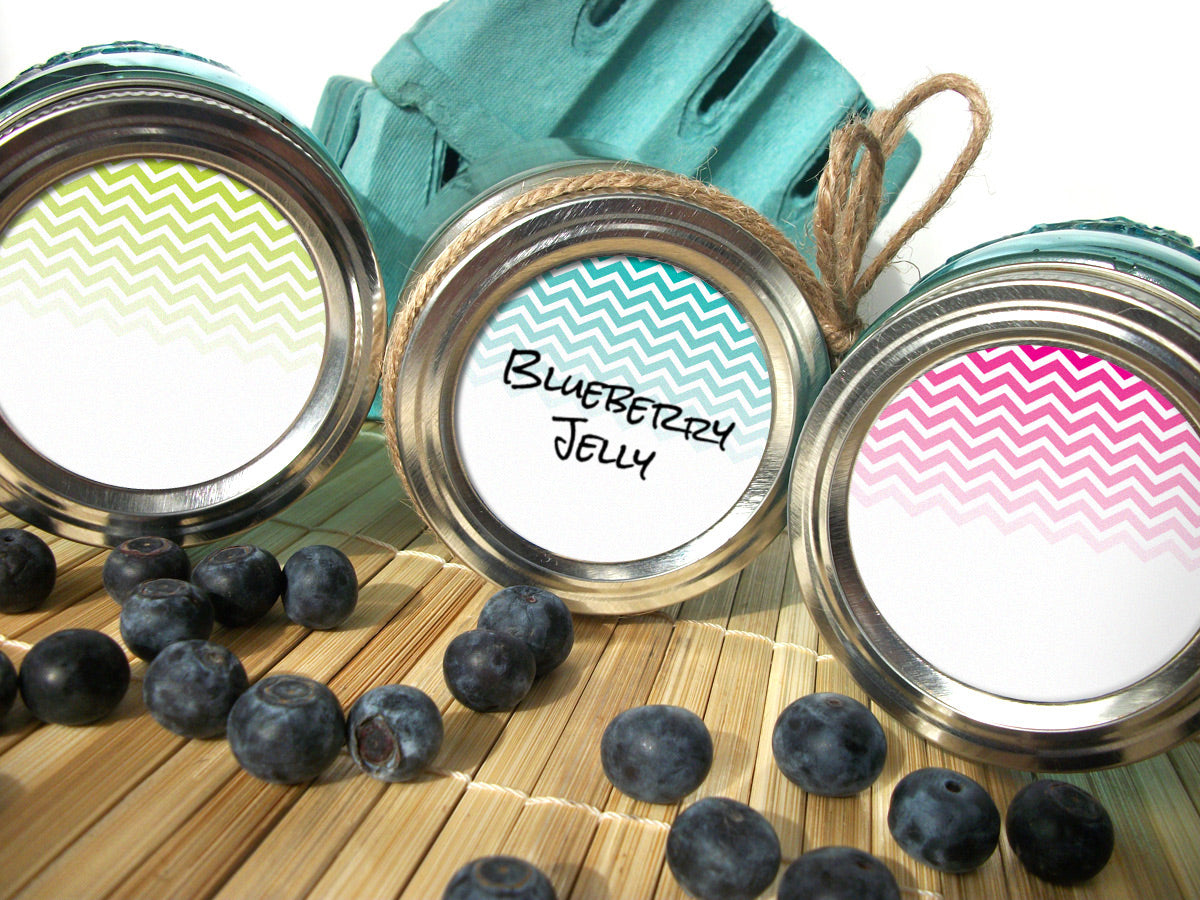 Chevron Canning Labels | CanningCrafts.com