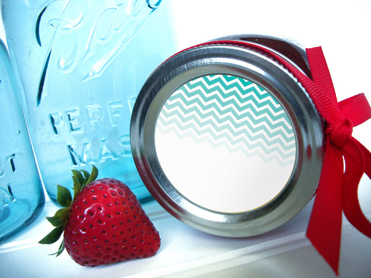 Chevron Canning Jam Jar Labels | CanningCrafts.com