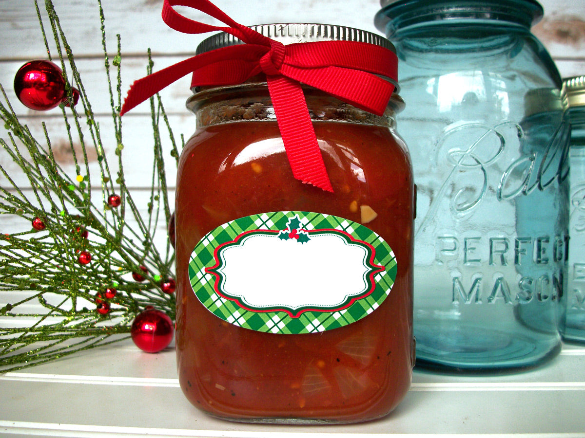 Oval Christmas Canning Jar Labels | CanningCrafts.com