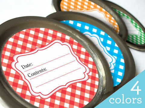 Classic Gingham Canning Labels | CanningCrafts.com