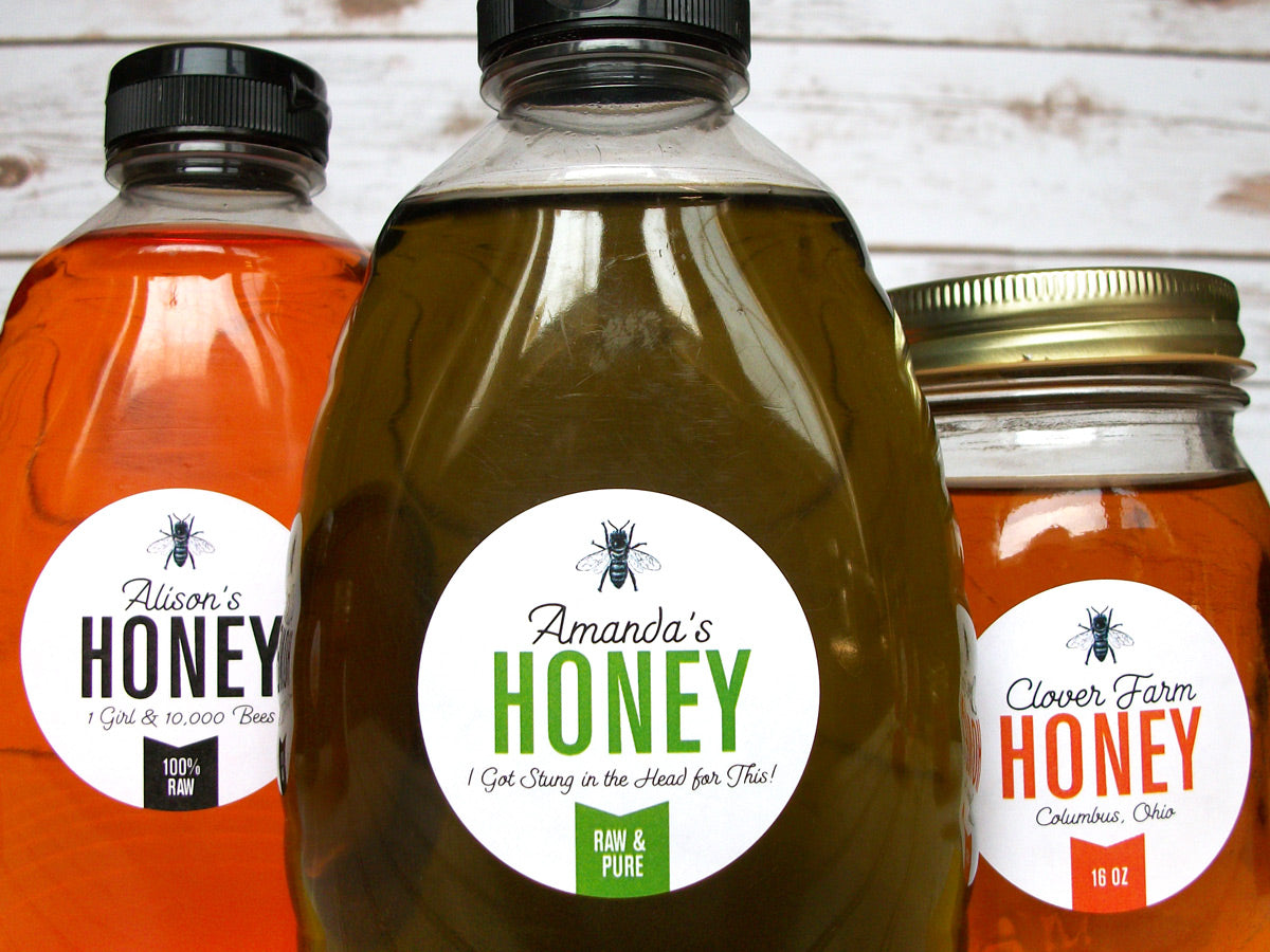 Custom Colorful Honey Labels | CanningCrafts.com