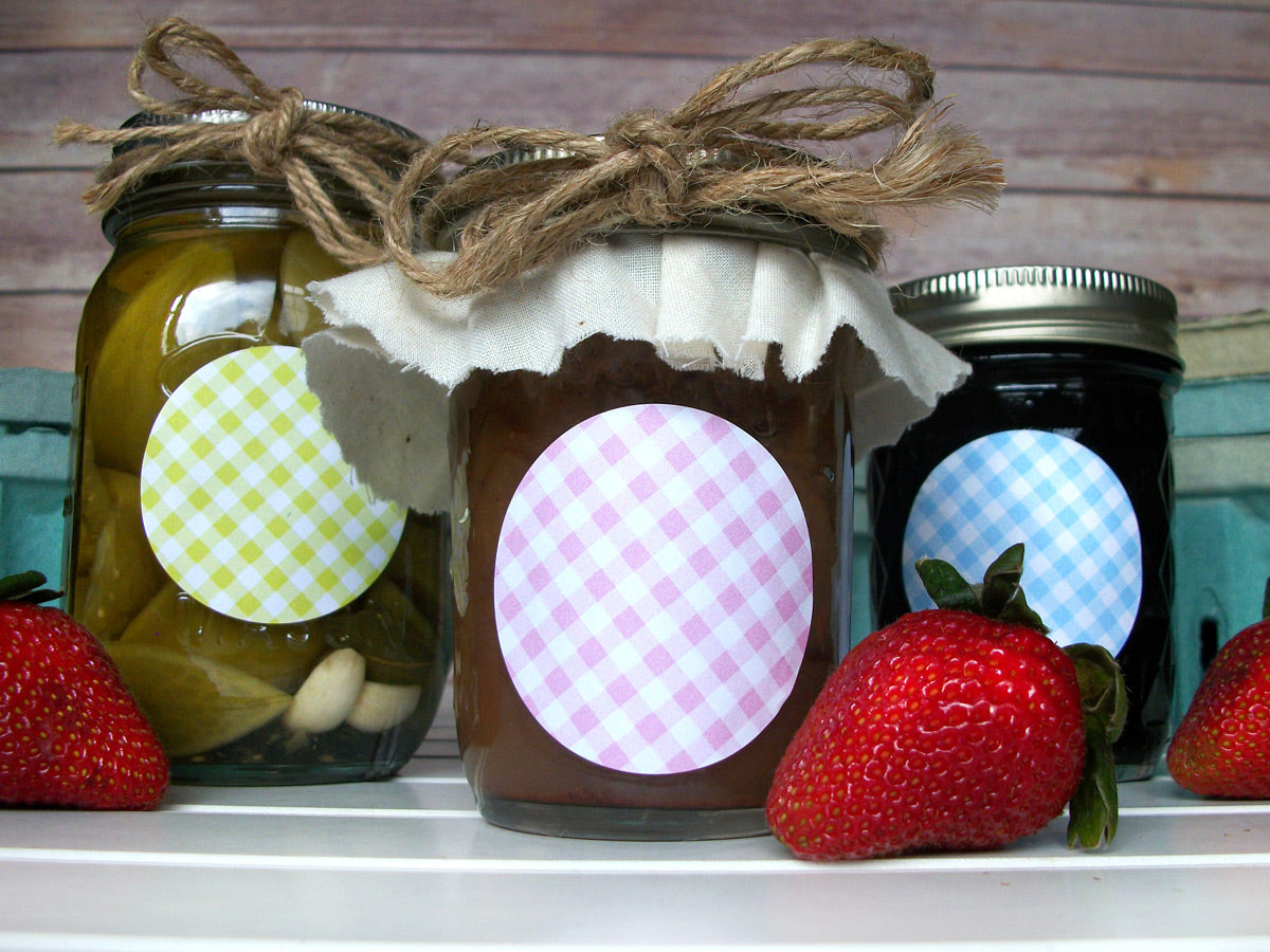 Cottage Chic LatticeJam & Jelly Jar Labels  | CanningCrafts.com