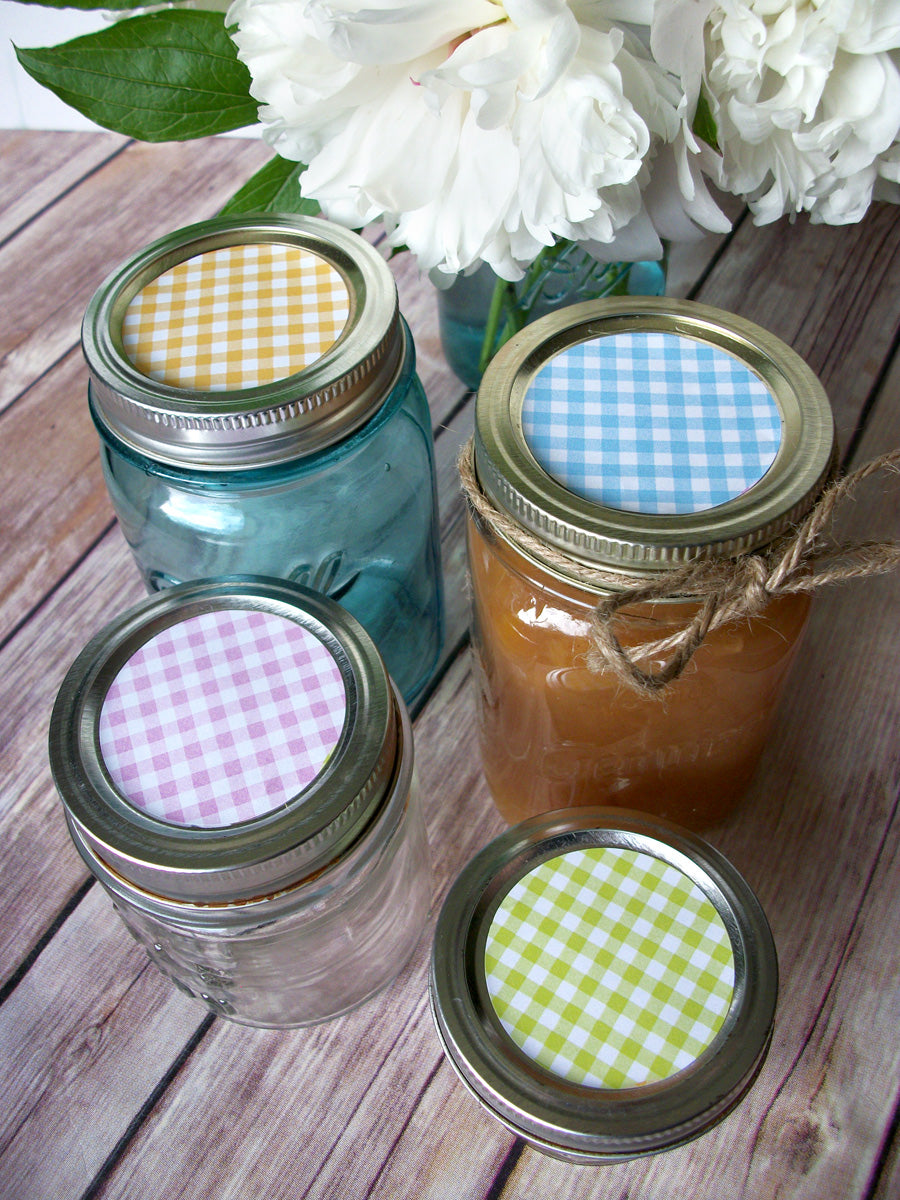 Cottage Chic Lattice Canning Labels  | CanningCrafts.com