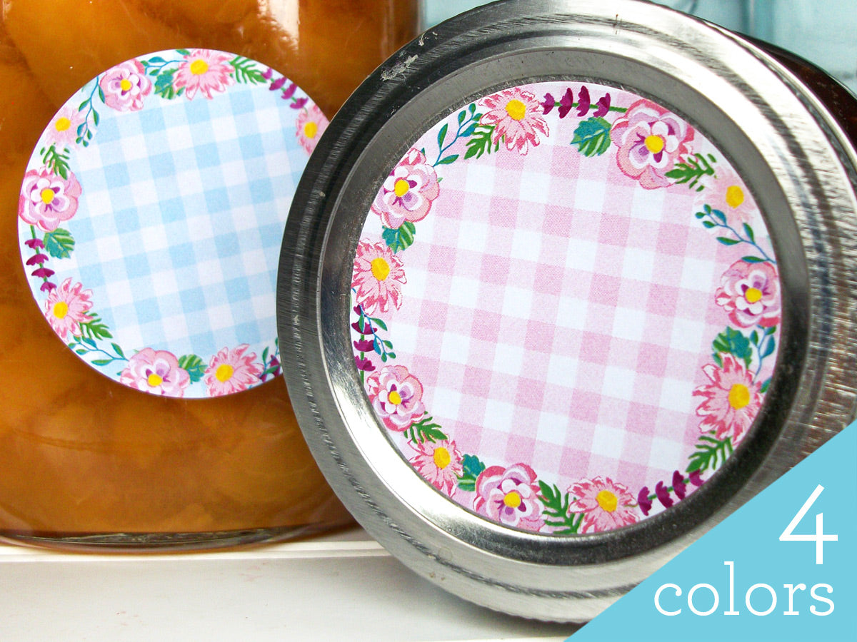 Cottage Chic Flower Canning Labels | CanningCrafts.com