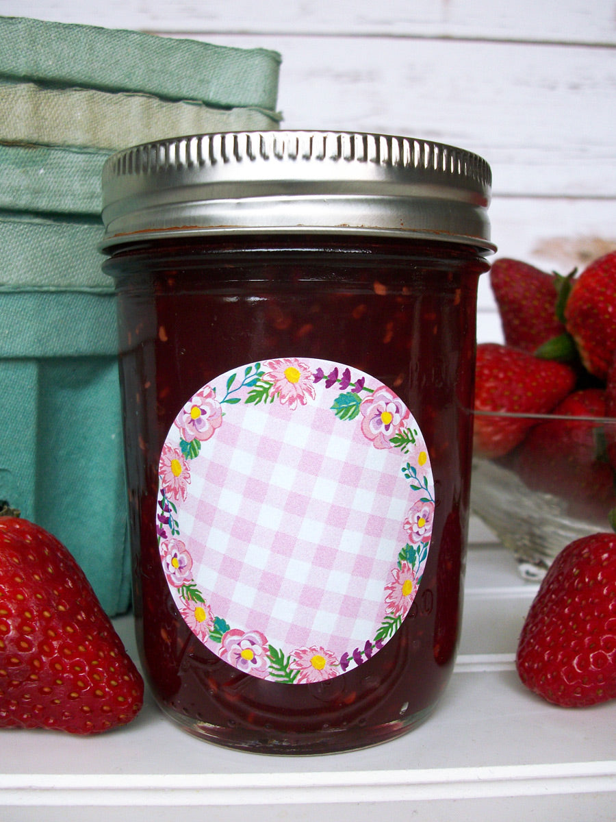 Cottage Chic Flower Canning Jam Jar Labels | CanningCrafts.com