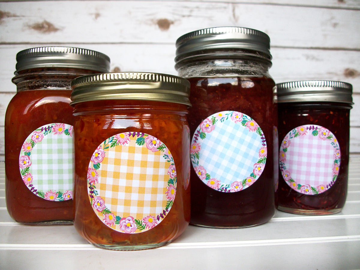 Cottage Chic Flower Mason Canning Jar Labels | CanningCrafts.com