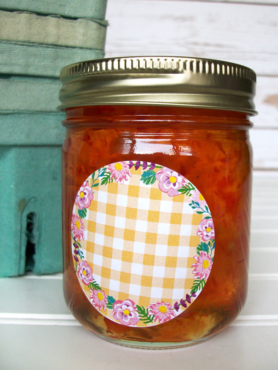 Cottage Chic Flower Jam & Jelly Jar Labels | CanningCrafts.com