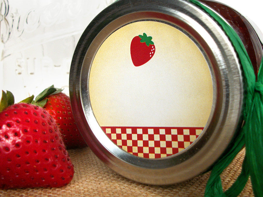 Country Strawberry Canning Labels | CanningCrafts.com