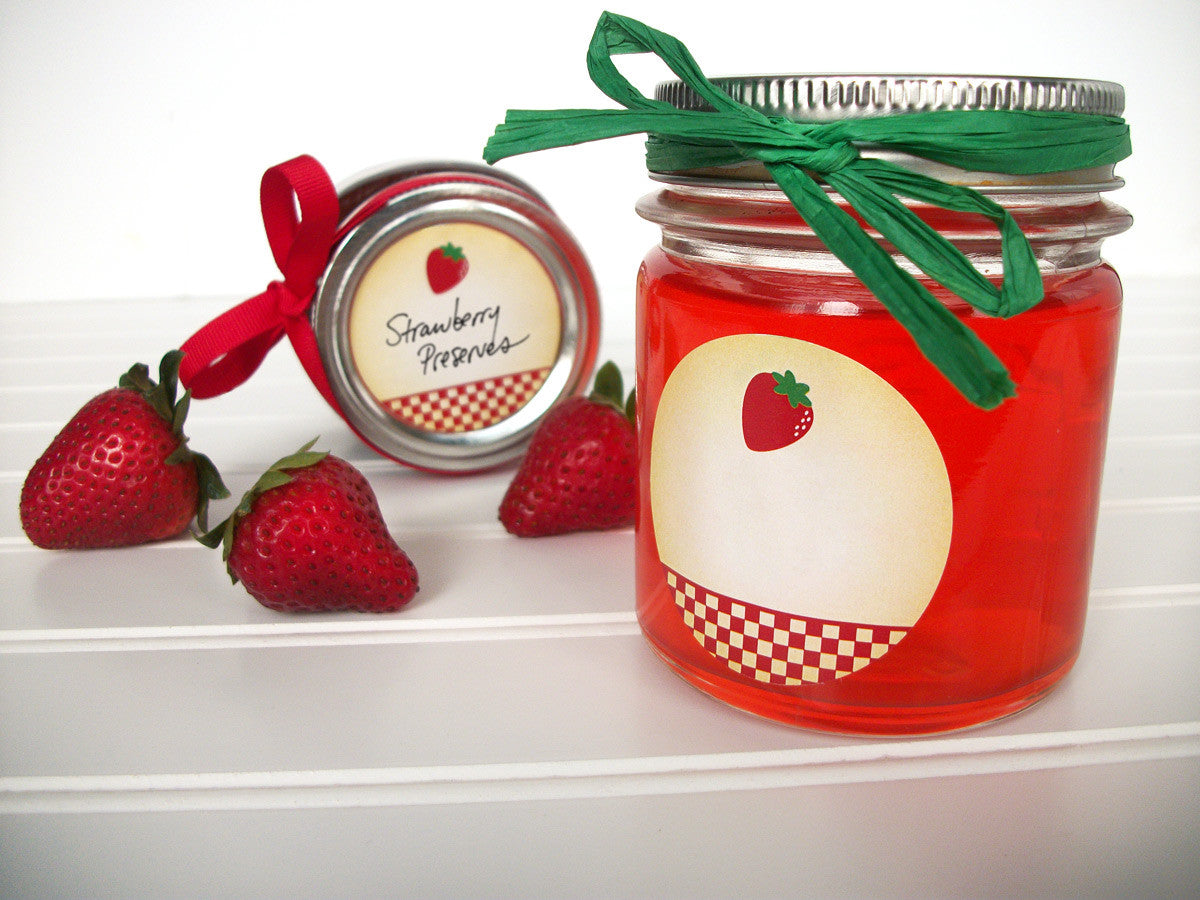 Country Strawberry Jam & Jelly Canning Labels | CanningCrafts.com