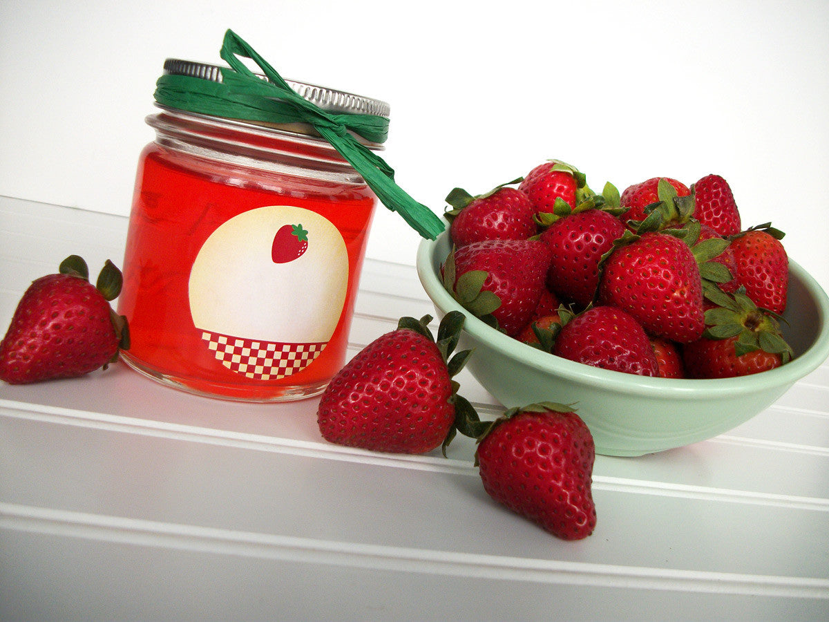 Country Strawberry Jelly Canning Labels | CanningCrafts.com