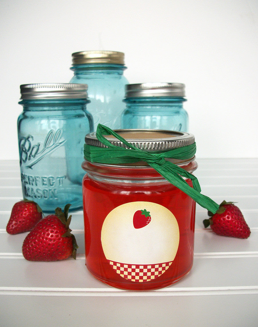 Country Strawberry Canning Jar Labels | CanningCrafts.com