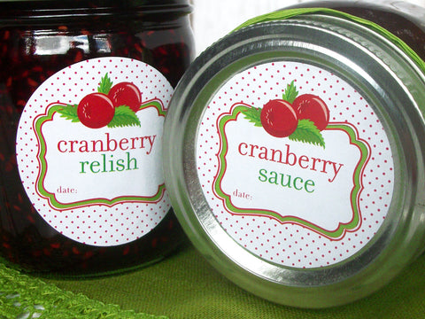cranberry sauce relish canning label | CanningCrafts.com