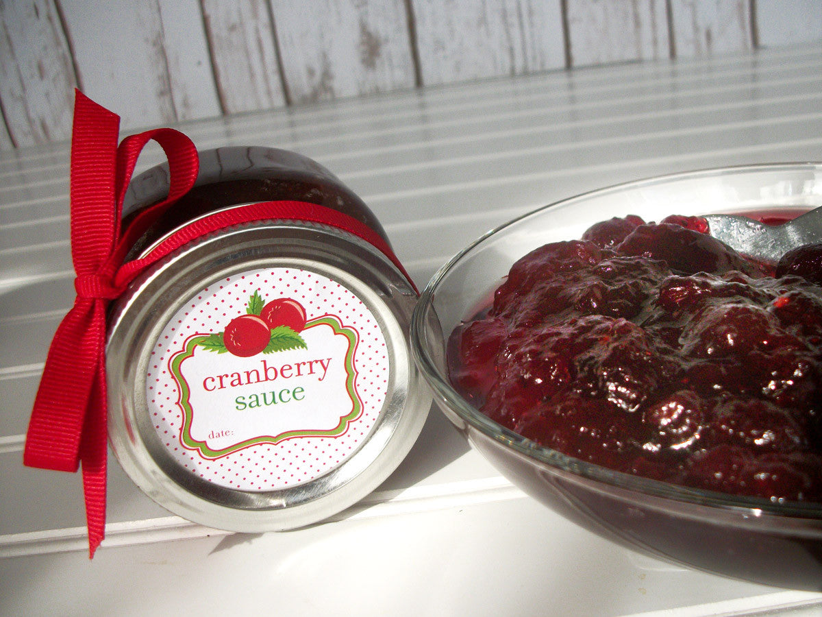 Cute Cranberry Relish & Sauce Canning Labels