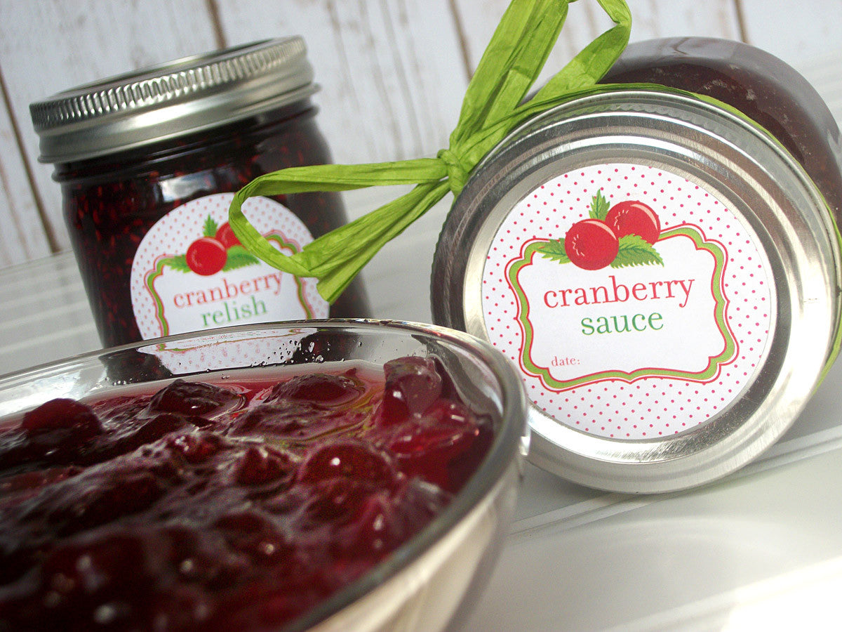 cranberry sauce canning label