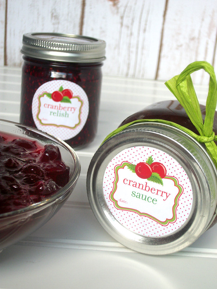 cranberry sauce & relish canning labels | CanningCrafts.com