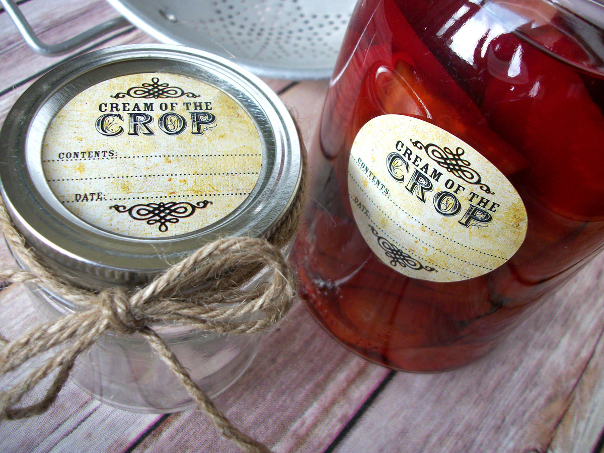 Vintage Cream of the Crop Canning Jar Labels | CanningCrafts.com
