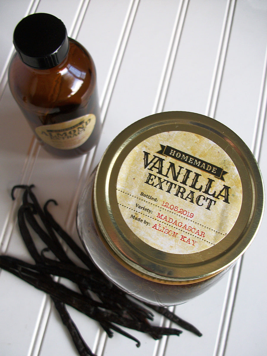 Custom Antique Vanilla Extract Labels | CanningCrafts.com