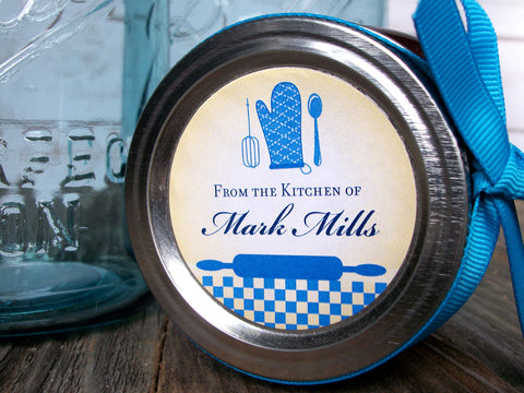 Custom Blue Kitchen Labels | CanningCrafts.com