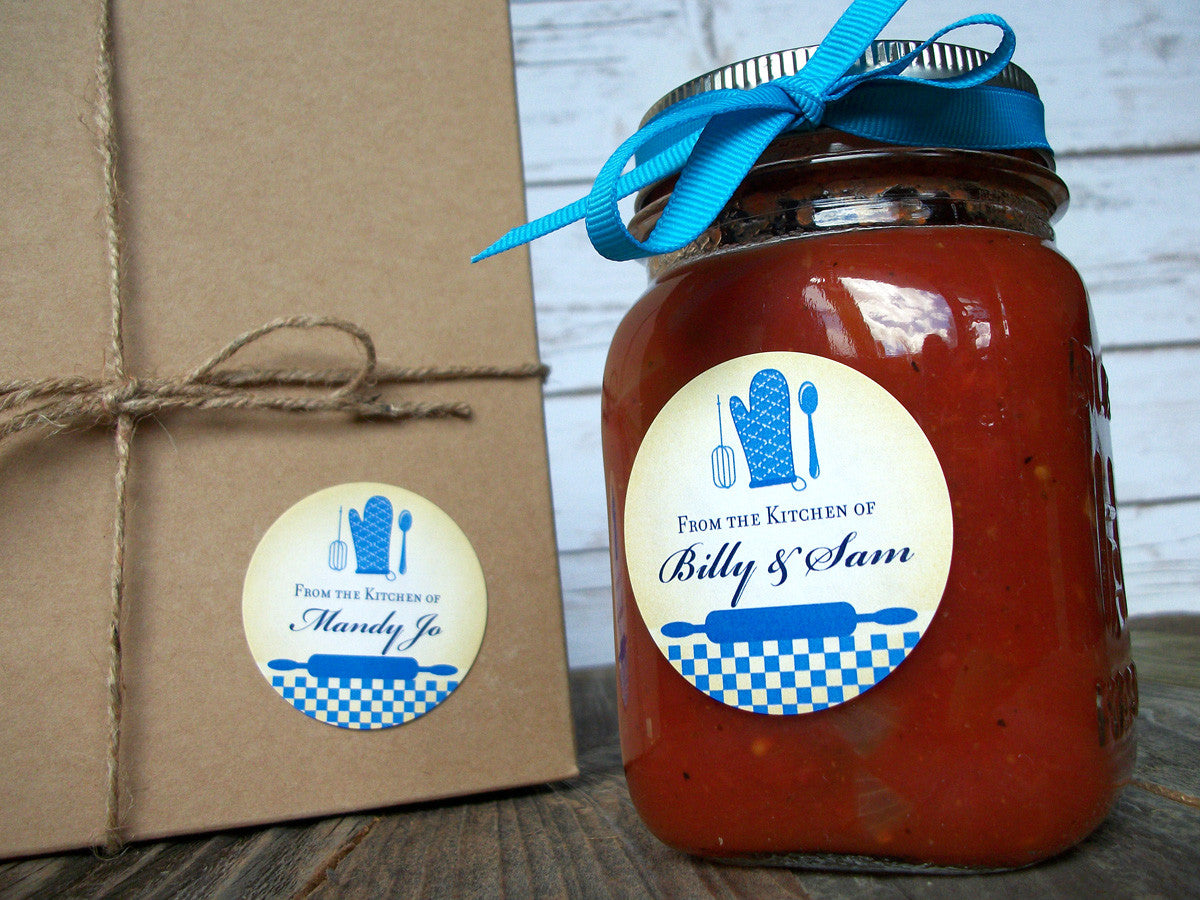 Custom Blue Kitchen Canning Labels | CanningCrafts.com