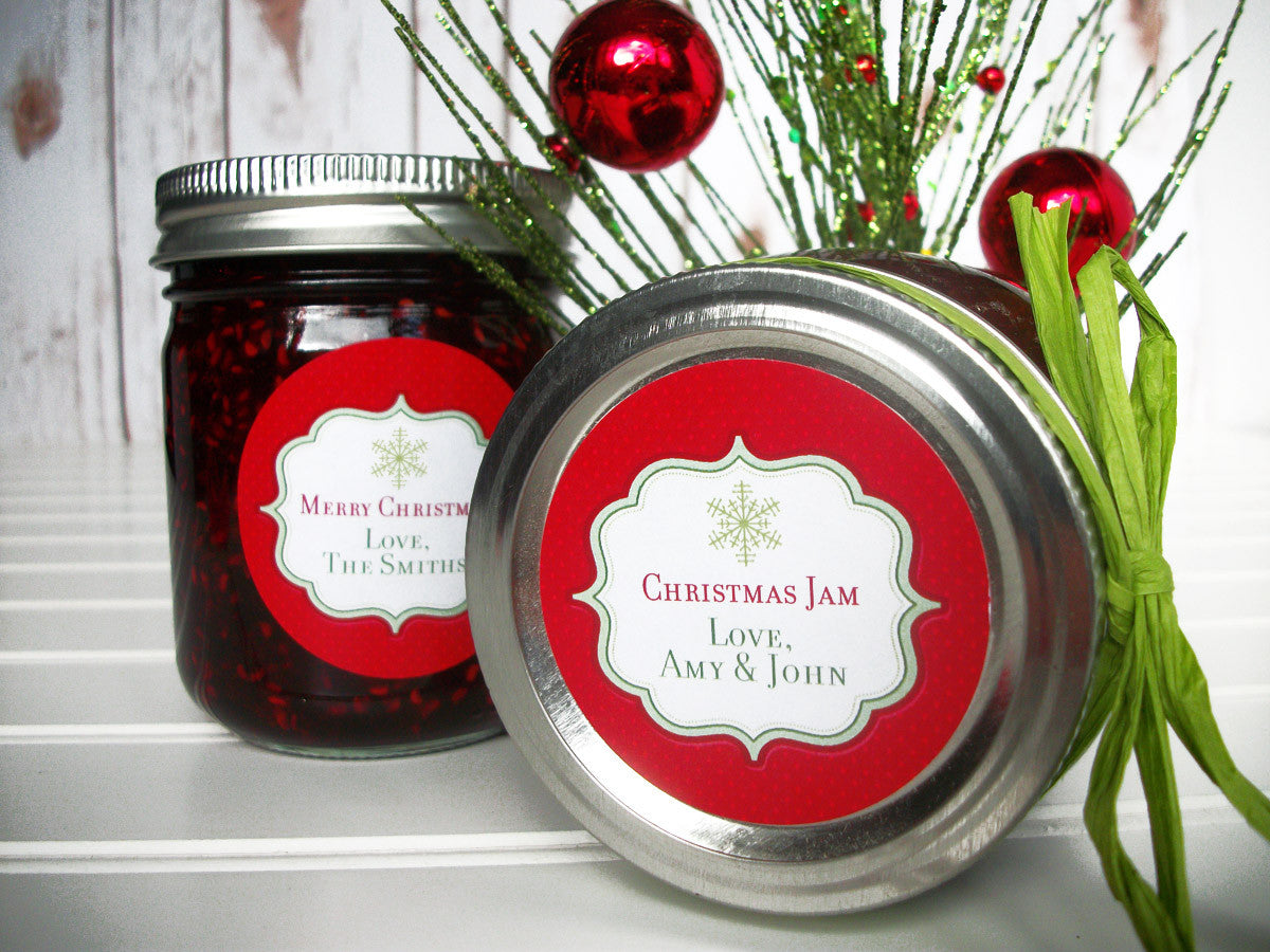 Custom Christmas Canning Labels