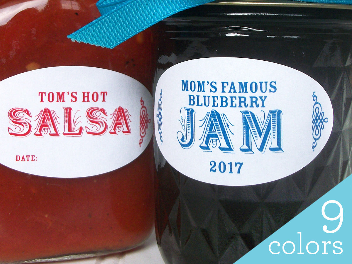 Colorful Custom Oval Canning Labels | CanningCrafts.com