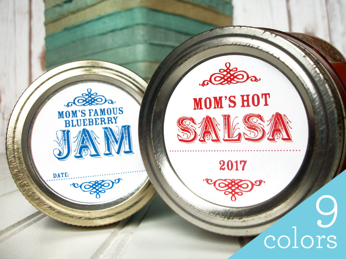 Custom Colorful Canning Labels | CanningCrafts.com
