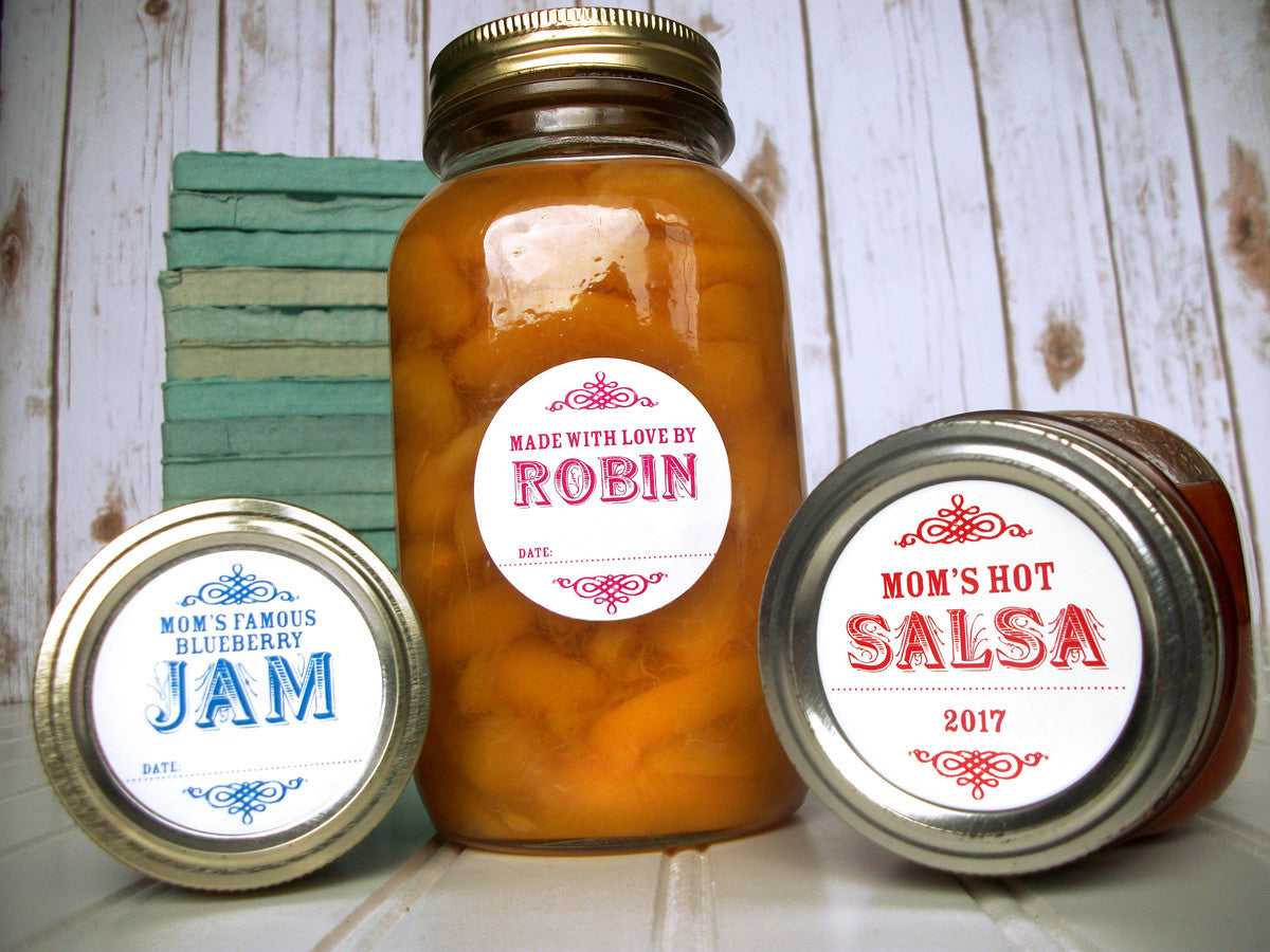 Custom Canning Jar Labels